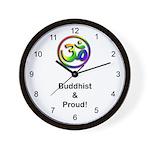 Buddhist & Proud Wall Clock