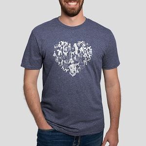 Airedale Terrier Heart T-sh Mens Tri-blend T-Shirt