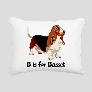 B is for Basset Rectangular Canvas Pillow