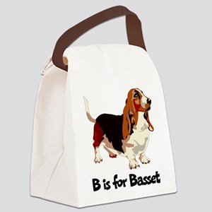 B is for Basset Canvas Lunch Bag