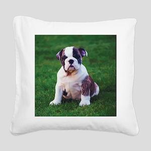 Cute Bulldog Square Canvas Pillow