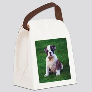 Cute Bulldog Canvas Lunch Bag
