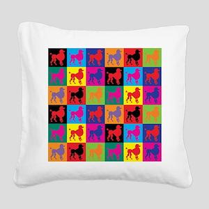 Pop Art Poodle Square Canvas Pillow