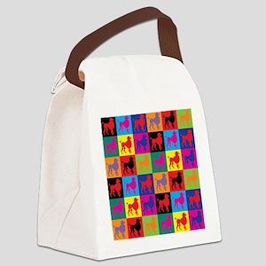 Pop Art Poodle Canvas Lunch Bag