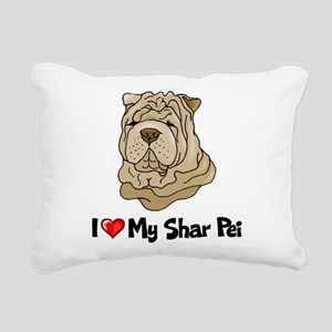 Love Shar Pei Rectangular Canvas Pillow