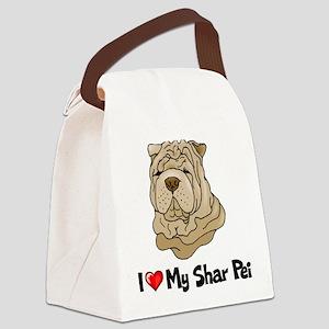 Love Shar Pei Canvas Lunch Bag