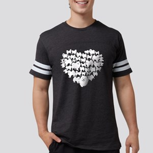 American Eskimo Dog Heart T-sh Mens Football Shirt