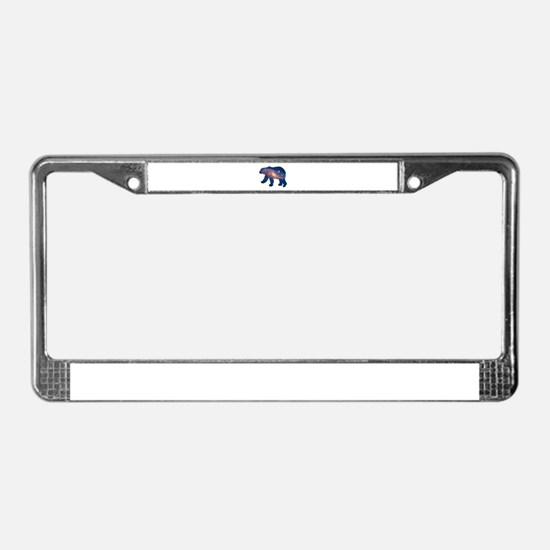 POLAR GALAXY License Plate Frame