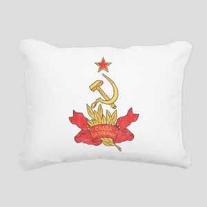 Vintage Soviet Rectangular Canvas Pillow