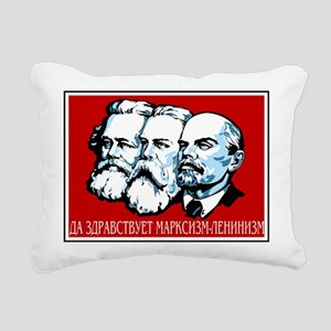 Marx, Engels, Lenin Rectangular Canvas Pillow