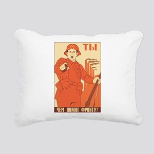 Red Army Rectangular Canvas Pillow