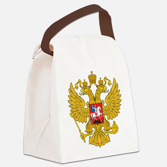Russia Coat Of Arms Canvas Lunch Bag