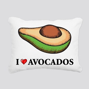 I Love Avocado Rectangular Canvas Pillow