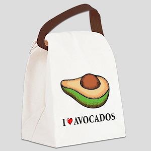 I Love Avocado Canvas Lunch Bag