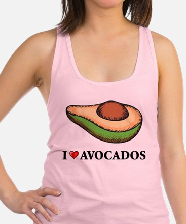 I Love Avocado Racerback Tank Top