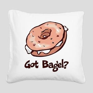 Got Bagel Square Canvas Pillow