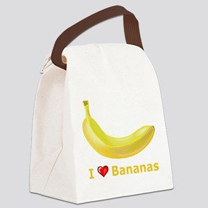I Love Banana Canvas Lunch Bag