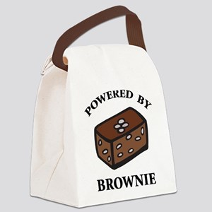 Powered By Brownie Canvas Lunch Bag