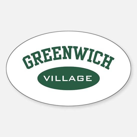 Greenwich Village Oval Decal