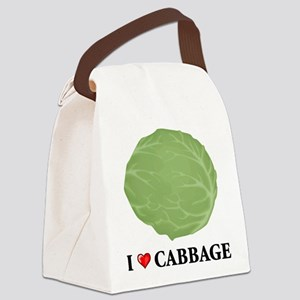 I Love Cabbage Canvas Lunch Bag
