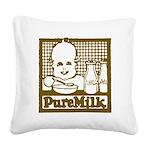 Vintage Pure Milk Square Canvas Pillow