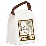 Vintage Pure Milk Canvas Lunch Bag