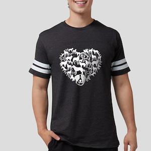 Anatolian Shepherd Dog Heart T Mens Football Shirt