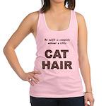 FIN-outfit-cat-hair... Racerback Tank Top