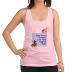 cats-support-staff Racerback Tank Top