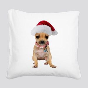 FIN-chihuahua-santa2 Square Canvas Pillow