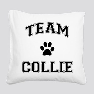 Team Collie Square Canvas Pillow