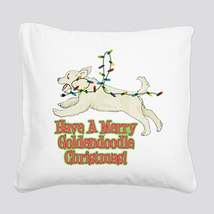 FIN-merry-goldendoodle-christmas Square Canvas