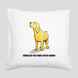lab-where-do-you-think Square Canvas Pillow