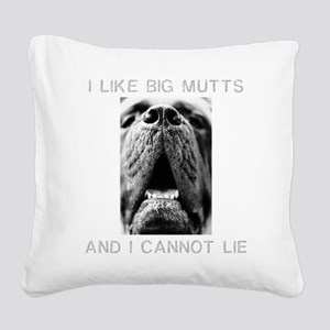 FIN-big-mutts-photo Square Canvas Pillow