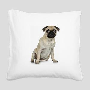 FIN-fawn-pug-photo Square Canvas Pillow