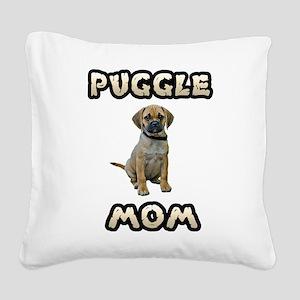 Puggle Mom Square Canvas Pillow