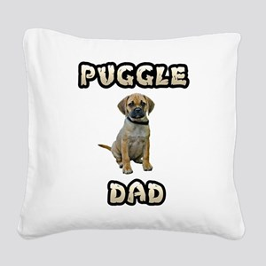 Puggle Dad Square Canvas Pillow