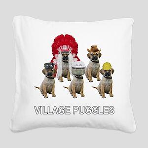 FIN-village-puggles-TITLE-WH Square Canvas Pil
