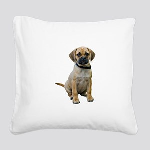 puggle-puppy-photo-TRANS Square Canvas Pillow