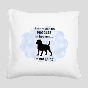 FIN-puggles-heaven Square Canvas Pillow