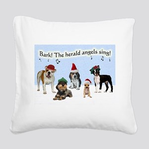 FIN-bark-herald-angels-GCARD Square Canvas Pil
