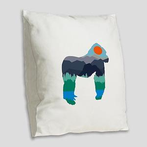IN ITS KINGDOM Burlap Throw Pillow