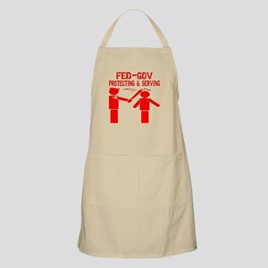 Fed-Gov Protecting Serving Apron