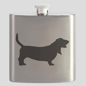 basset hound black Flask