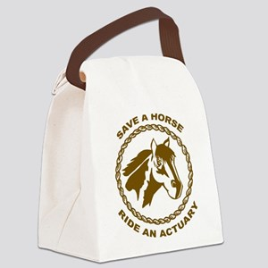 Ride An Actuary Canvas Lunch Bag