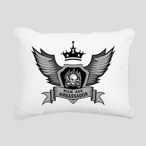 Kick Ass Ambassador Rectangular Canvas Pillow