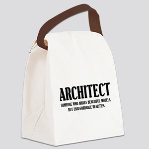 Funny Architect Canvas Lunch Bag