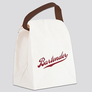 Retro Bartender Canvas Lunch Bag