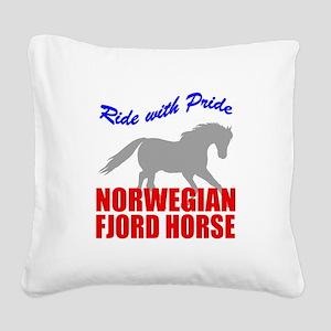 rwp-norwegian-fjord-horse Square Canvas Pillow