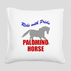 rwp-palomino-horse Square Canvas Pillow